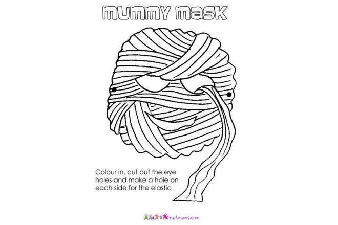 mummy mask print off