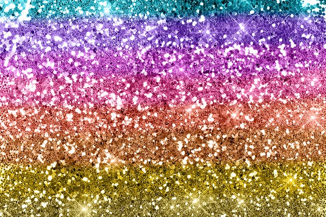 2. Anything with glitter
