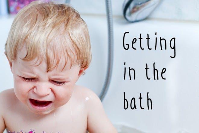 Getting in the bath