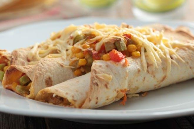 Chickpea enchiladas