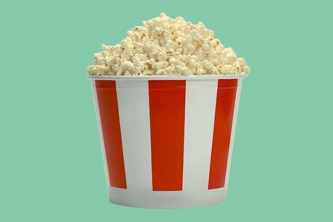 Tub of cinema popcorn