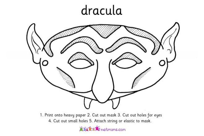 dracula mask print off