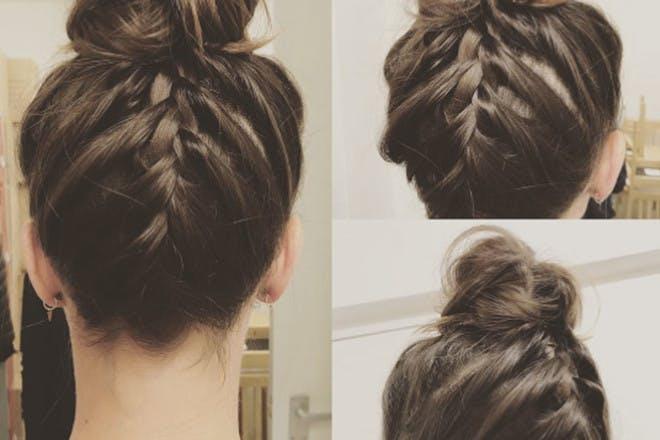 1. The French braid bun