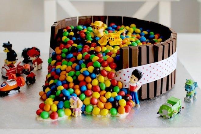 Paw Patrol inspired birthday cake