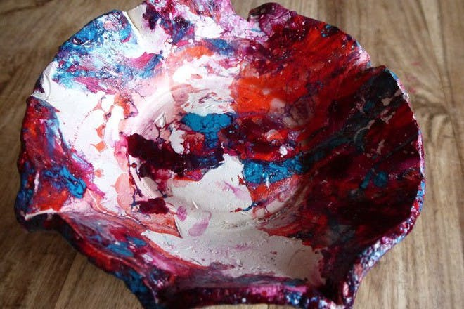 colourful clay bowl