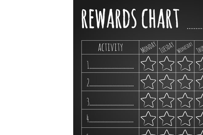 Reward with stickers