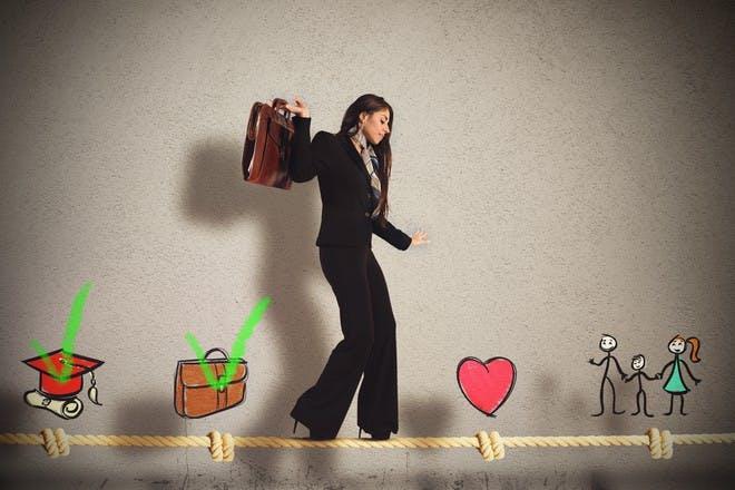 Work life balance tightrope