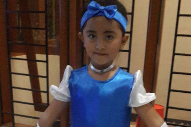 girl dressed as cinderella
