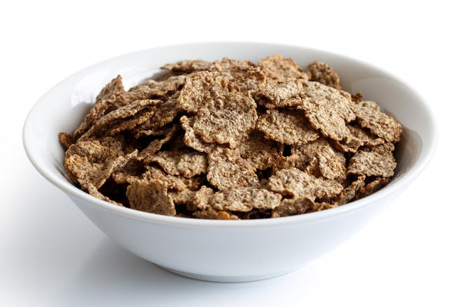 23. Cottage cheese and bran flakes