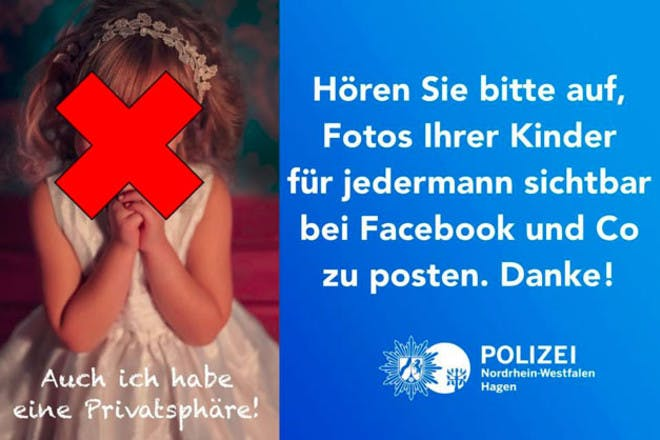 German police Facebook warning