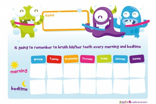 brushing your teeth reward chart