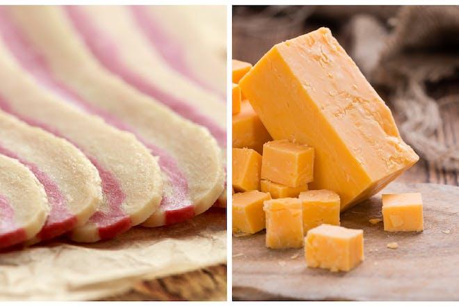Vegan bacon / cheddar cheese