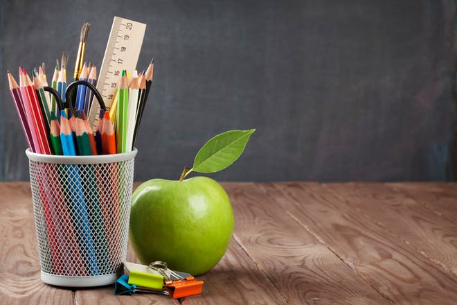 Apple and pens