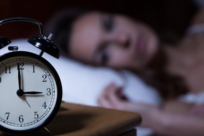 woman awake at 3am
