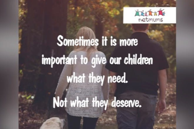 Sometimes it is more important to give our children what the need. Not what they deserve