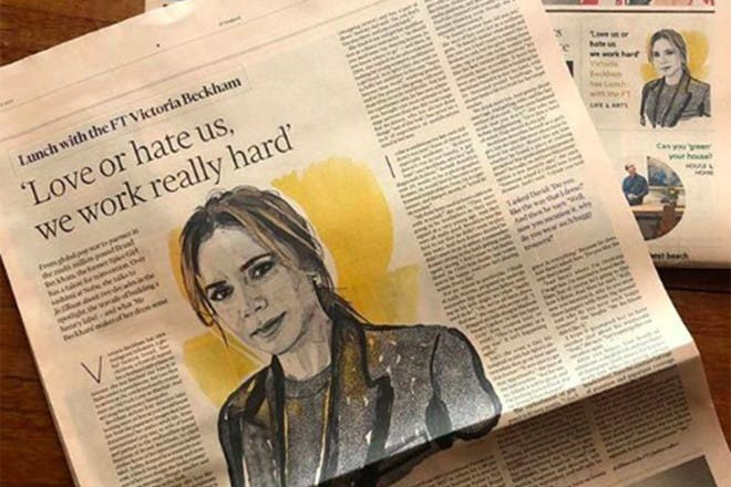 Victoria Beckham in the Financial Times