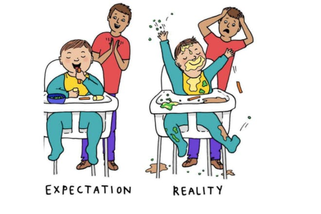 Baby led weaning expectation versus reality