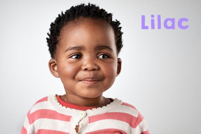 Baby girl smiling