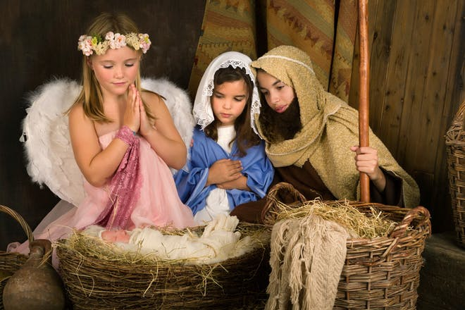 Kids in a Christmas nativity