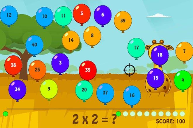 SpuQ balloons maths game