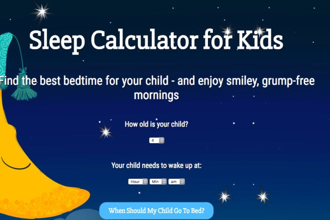 Sleep calculator for kids