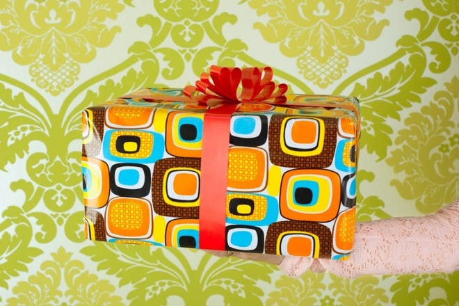 colourful geometric wrapping