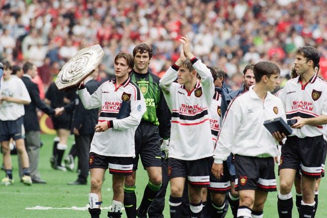David Beckham at a charity football match in 1997
