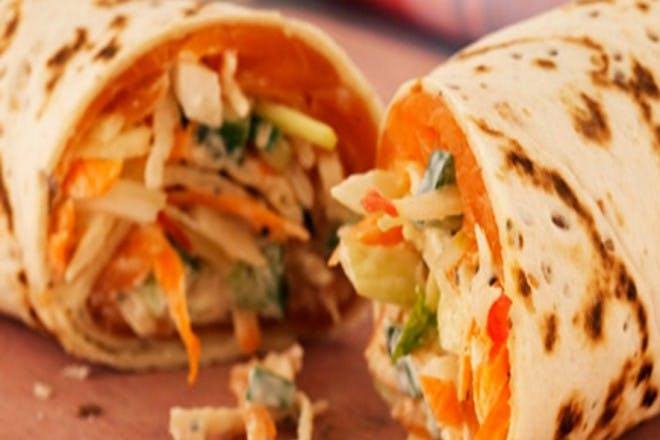 8. Smoked salmon and crunchy slaw wrap