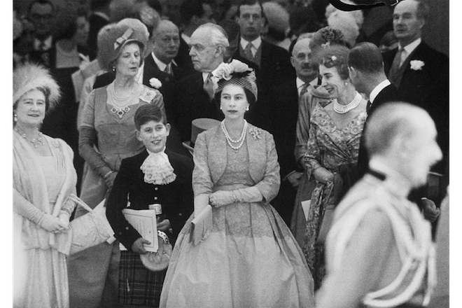 The Queen with young Prince Charles