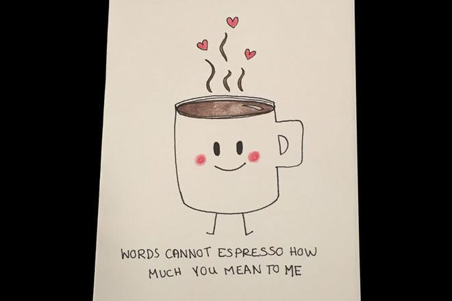 espresso Valentine's card