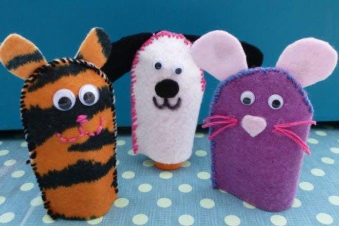 30. Create felt finger puppets