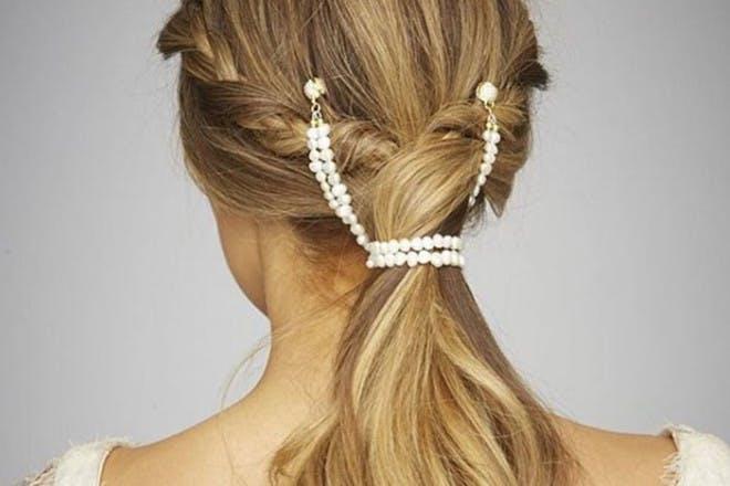 18. Beaded ponytail