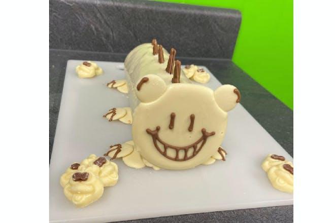 Homemade Colin the Caterpillar cake