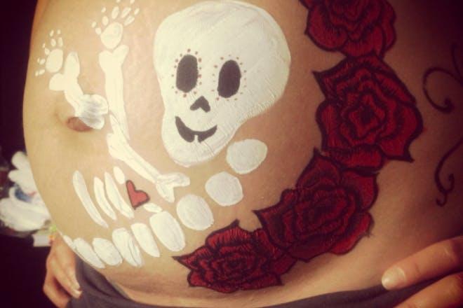 16. Skeleton Baby Bump