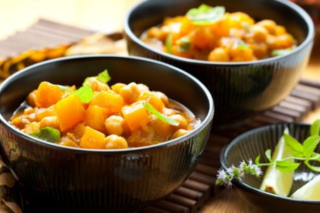 two bowls of vegetable curry