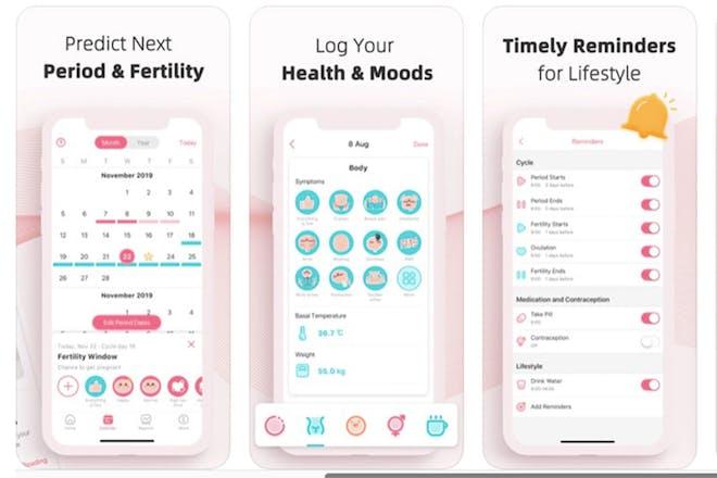 17. PinkBird Menstrual and Ovulation Calculator