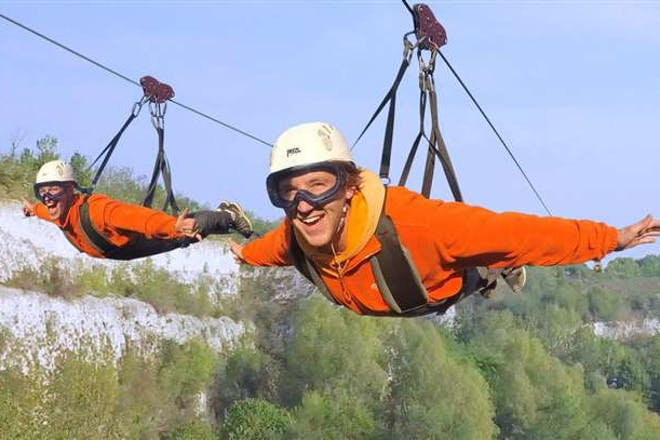 19. Ride England's longest zipwire at Hangloose Bluewater
