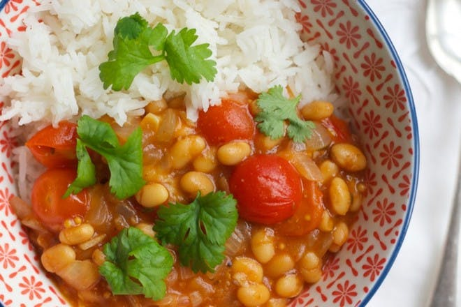 1. Baked bean curry