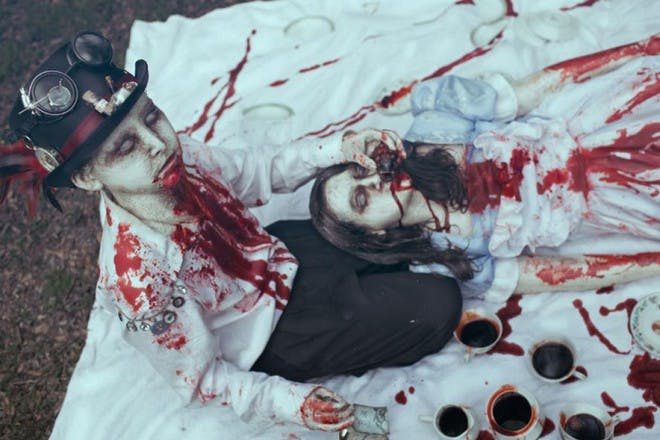 The zombie kids' photos taking the US by storm