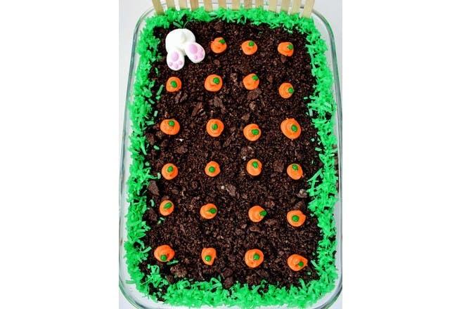 27. Burrowing bunny cake