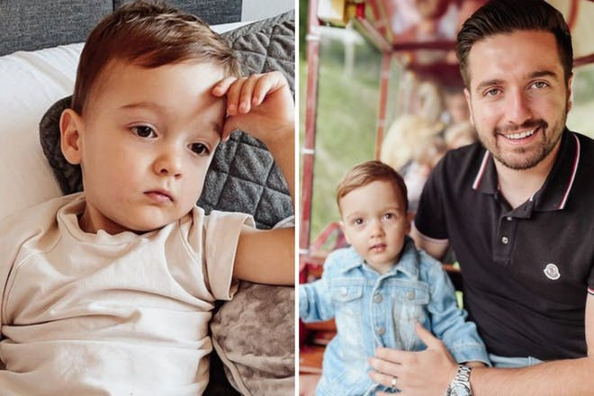 Left: ChildRight: Child and man
