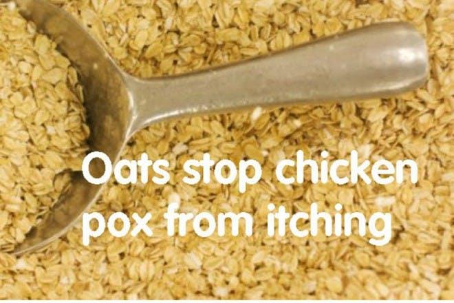 oats on silver spoon
