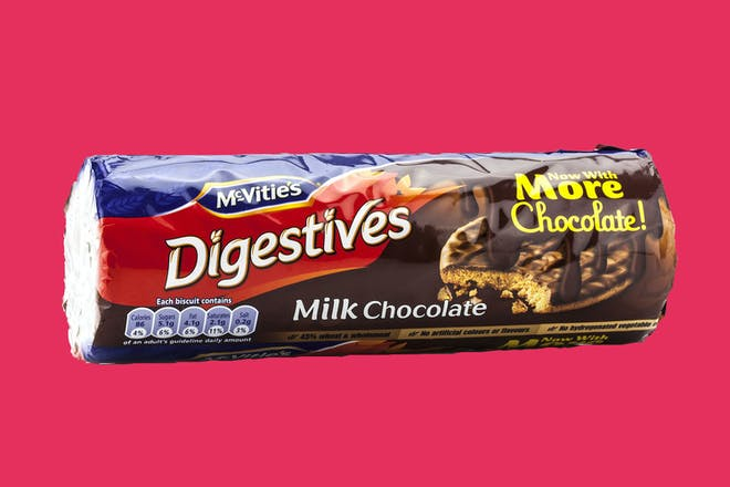 Packet of Digestive biscuits