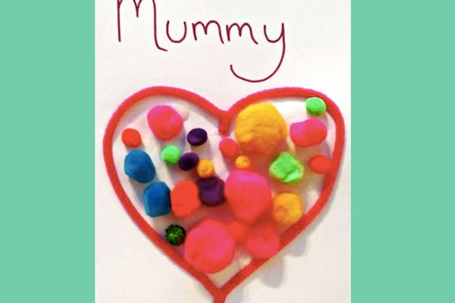 Mother's Day card with pom poms