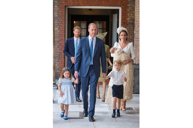 Prince William, Kate Middleton, Prince Louis, Princess Charlotte, Prince George, Prince Harry and Meghan Markle