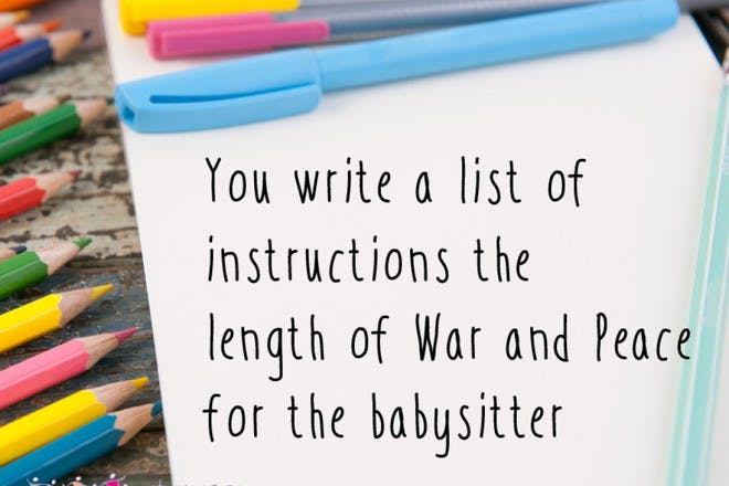 Leave an essay for the baby sitter