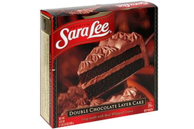 Sara Lee chocolate cake box