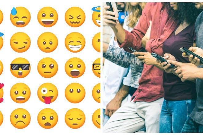 Right: Emojis; Left: Gen Z texting