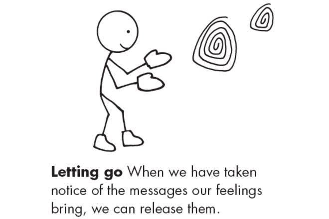 letting go cartoon