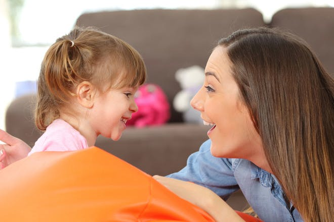 6. You only use words to compliment your child